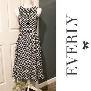 NWT EVERLY Sleeveless Fit & Flare Midi Dress